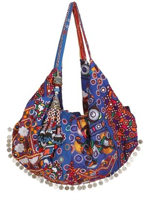 Simone Camille Moon Bag Patchwork Canvas Tote