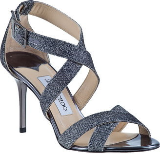 Jimmy Choo Louise Evening Sandal Anthracite Glitter