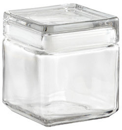 Container Store 32 oz. Stackable Square Canister