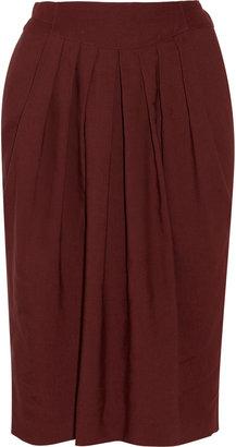 Chloé Pleated wool-blend skirt