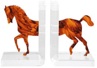 Gump's Acrylic Horse Bookends