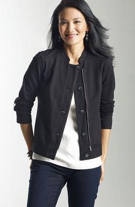 J. Jill Ponte knit zip-front jacket