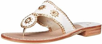 Jack Rogers Women's Nantucket Gold Thong Sandal