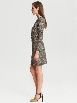 Banana Republic Leopard Print Faux-Wrap Dress