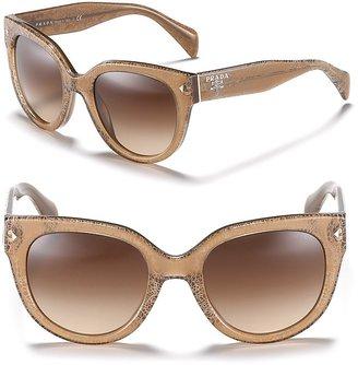Prada Women's Timeless Heritage Rounded Wayfarer Sunglasses