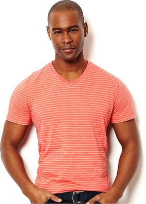 Nautica Shirt, Stripe V Neck T-Shirt