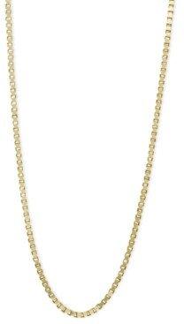 "Macy's 14k Gold Necklace, 18"" Plain Box Chain (3/4mm)"