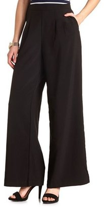 Charlotte Russe Pleated High-Waisted Palazzo Pants