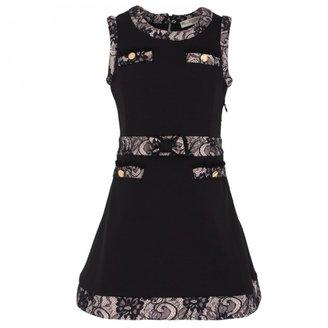 Supertrash Black Dress with Lace Trims