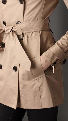 Burberry Short Double Sateen Trench Coat