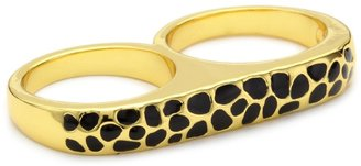 "Erica Anenberg Leopard"" Gold Twosome Ring"