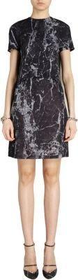 Balenciaga Marble Print Trompe L'oeil Short Sleeve Dress
