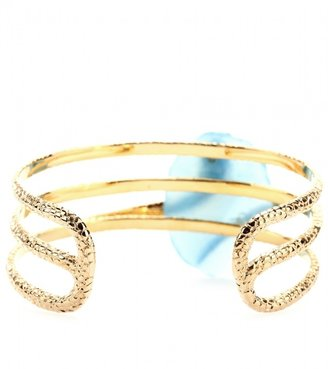 Isharya GOLD-PLATED CUFF WITH EMBELLISHMENT
