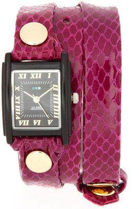 La Mer Animal Skin Strap Watch