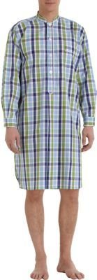 Barneys New York Plaid Sleepshirt and Hat