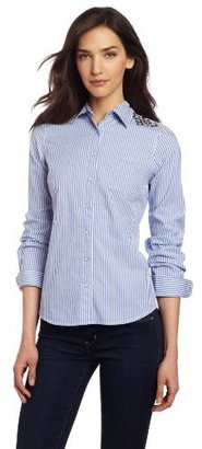 Vince Camuto Two by Women's Blue Stripe Western With Pyramid Studs