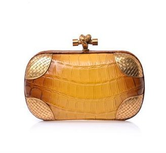 Bottega Veneta Degradé crocodile box clutch