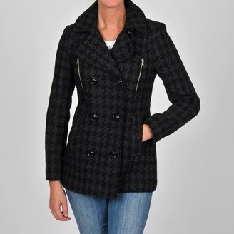 Esprit Women's Charcoal Fancy Double-breasted Wool-blend Coat $98.99 thestylecure.com