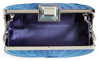 Sondra Roberts 'Twist Pleat' Satin Clutch