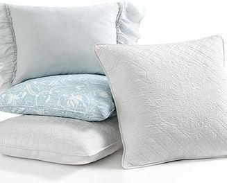 """Lauren Ralph Lauren CLOSEOUT! Bedding, Spring Hill Blue Linen 12"""" x 16"""" Throw Pillow"""