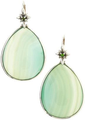 Stephen Dweck Green Agate Teardrop Earrings