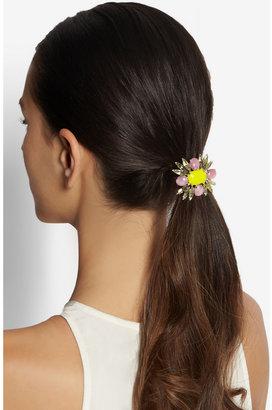 Jennifer Behr Rhodium-plated crystal hair elastic