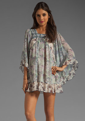Anna Sui Floral Melody Mixed Print Dress