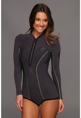 Rip Curl G-Bomb L/S 1MM Booty Springsuit (Charcoal) - Apparel