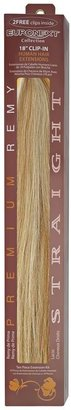 Euronext Clip In Blonde Frost 18 Inch Human Hair Extensions