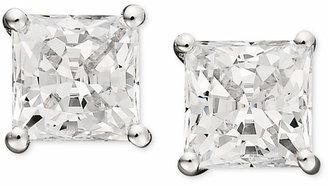 Arabella 14k White Gold Earrings, Swarovski Zirconia Princess Cut Stud Earrings (2-3/4 ct. t.w.)