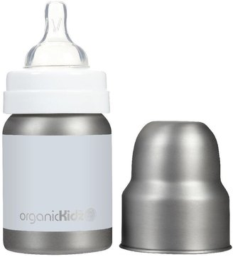 Green Baby organicKidz Wide Mouth Stainless Steel Bottle - Solid White - 4 oz
