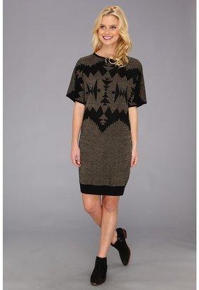 Pendleton The Portland Collection by Merino Deer Island Dress (Black Sonora) - Apparel