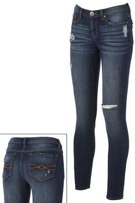 Mudd distressed skinny jeans - juniors