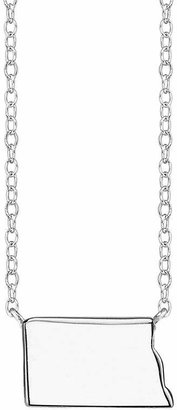 Footnotes Sterling Silver North Dakota State Necklace
