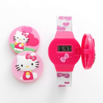 Hello Kitty interchangeable face cover digital watch set - kids