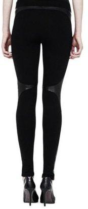 Helmut Lang Bondage Jersey Leather Legging