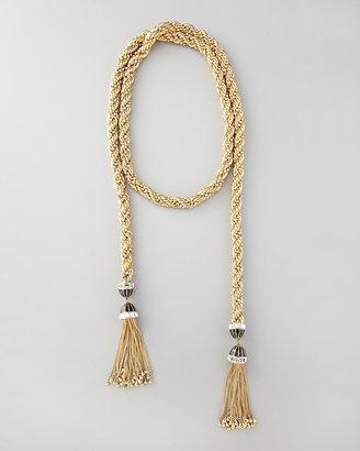 """Rachel Zoe Long Tassel-End Necklace, 54""""L"""