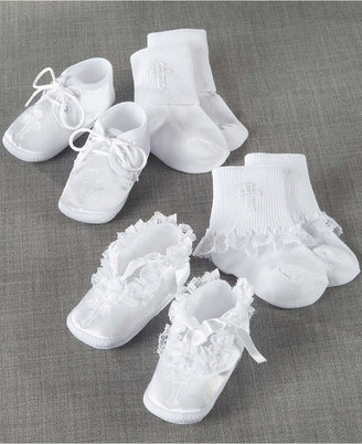 Lauren Madison Baby Socks and Shoes, Boys or Girls Christening Set $18 thestylecure.com