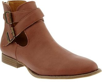 Old Navy Women's Buckled Faux-Leather Moto Boots