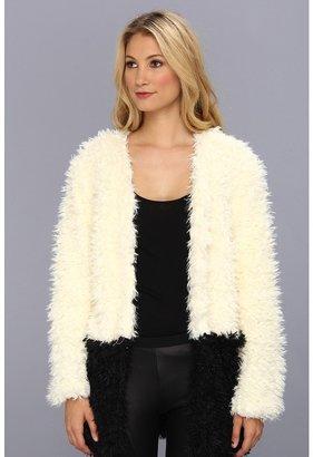 MinkPink Farshion Coat (Cream/Black) - Apparel