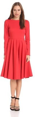 Isaac Mizrahi Women's Ponte Dress with Pleated Skirt