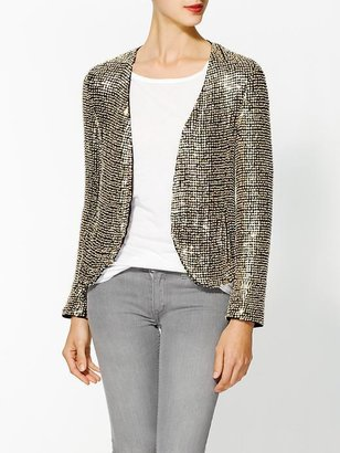Parker Silk Ivory Seed Sequin Jacket