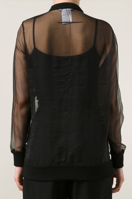 Givenchy Sheer Paillette Rottweiler Top