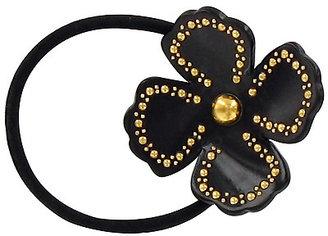 France Luxe Studded Monet Flower Pony Black