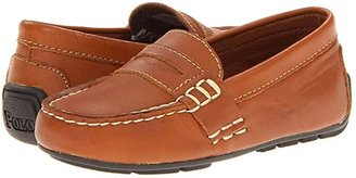 Polo Ralph Lauren Kids Telly (Infant/Toddler) (Tan Burnished Leather) Boy's Shoes