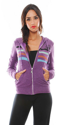 Singer22 Stripe Logo Zip Hoodie - by Day By Day