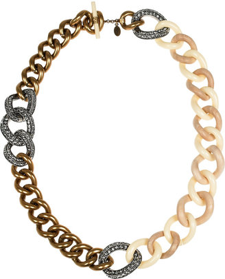 Lanvin Swarovski crystal chunky chain necklace