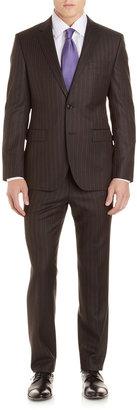 HUGO BOSS Grand Central Textured Stripe Suit, Gray