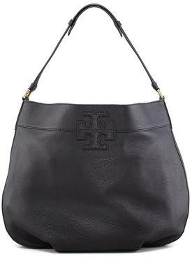 Tory Burch Stacked T Hobo Bag, Black