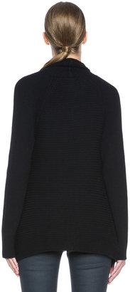 Helmut Lang HELMUT Plush Wool-Blend Cardigan in Black